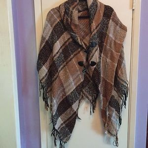 Fall/Winter Blanket Scarf Style Cape
